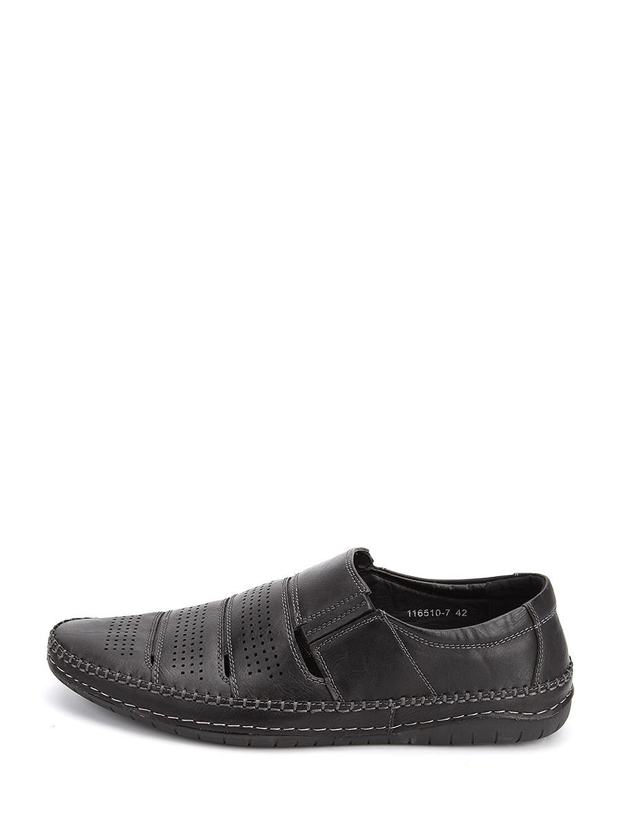 Фото 2 - Мужские туфли LETMI черного цвета