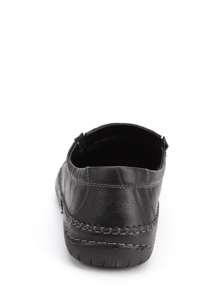 Фото 4 - Мужские туфли LETMI черного цвета