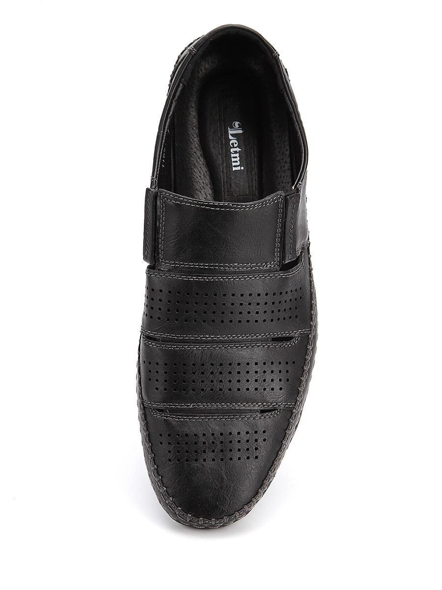 Фото 5 - Мужские туфли LETMI черного цвета