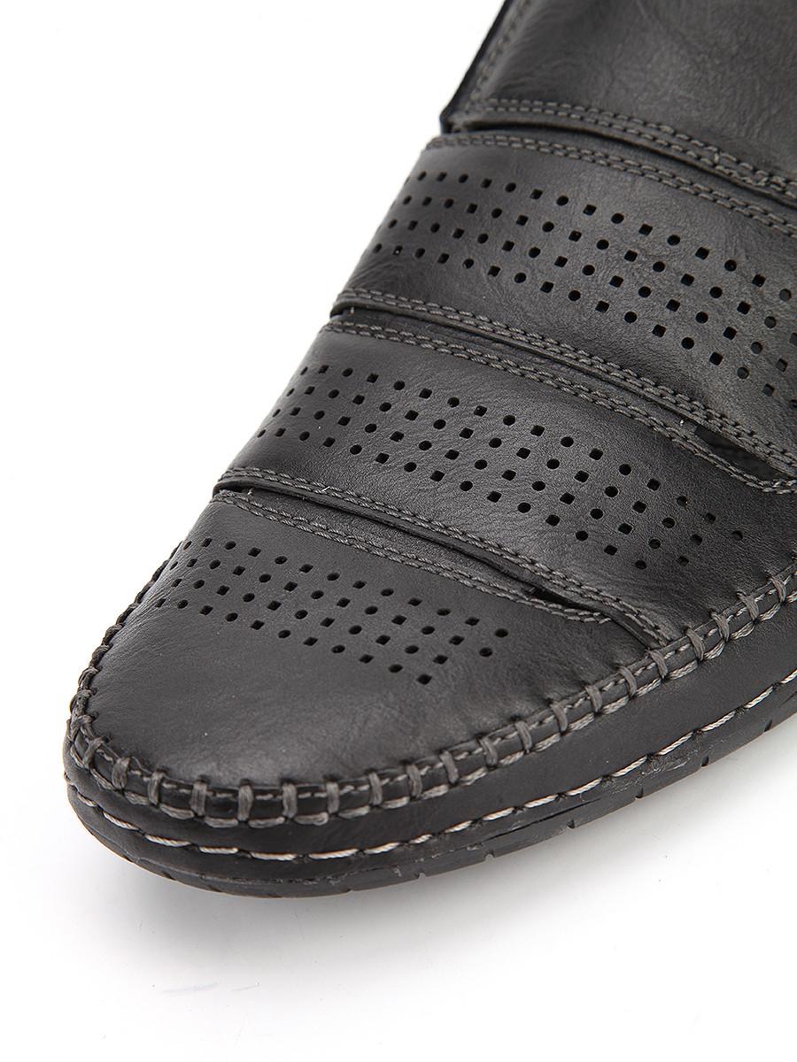 Фото 7 - Мужские туфли LETMI черного цвета
