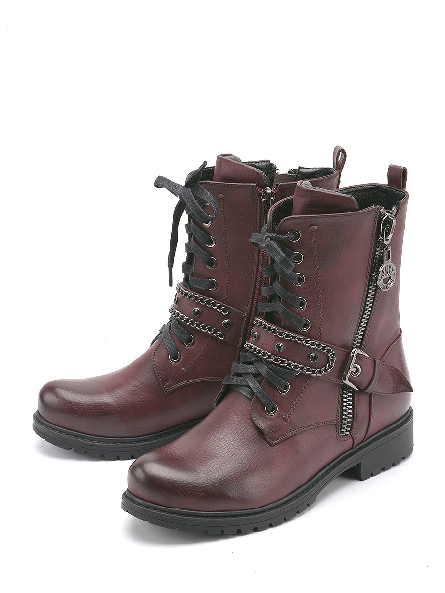 Купить Женские ботинки и полуботинки Summergirl бордового цвета