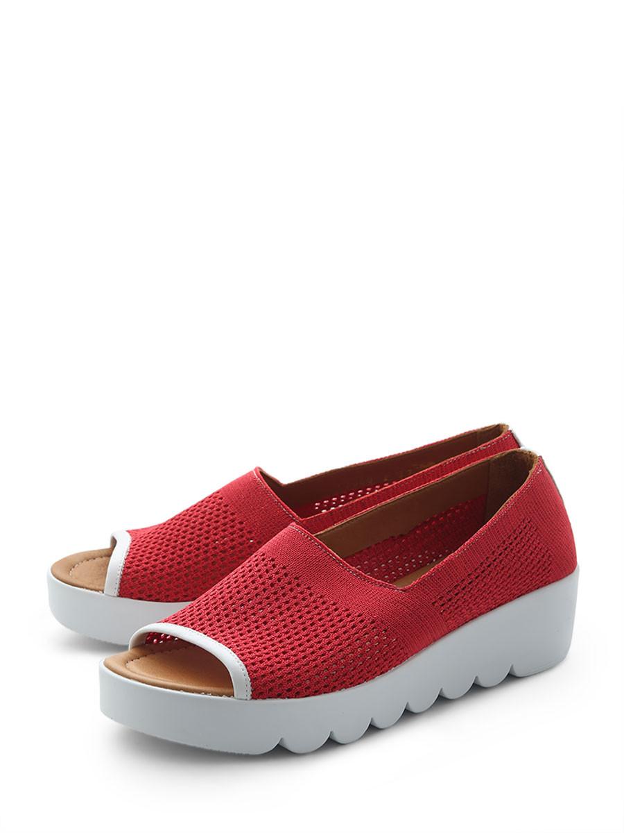 Купить Туфли Alvito, красный, текстиль, лето
