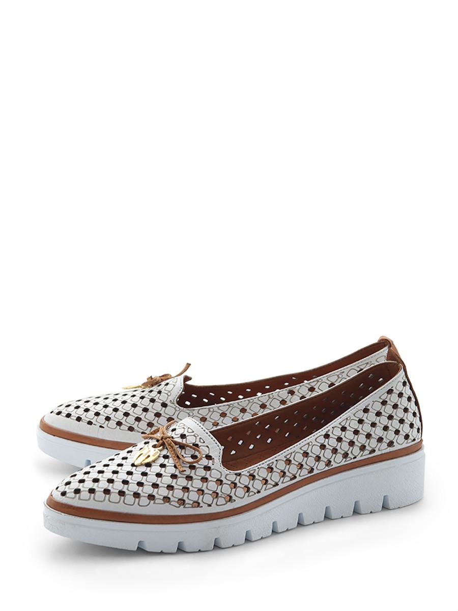 Купить Туфли SPECTRA, белый, натуральная кожа, лето