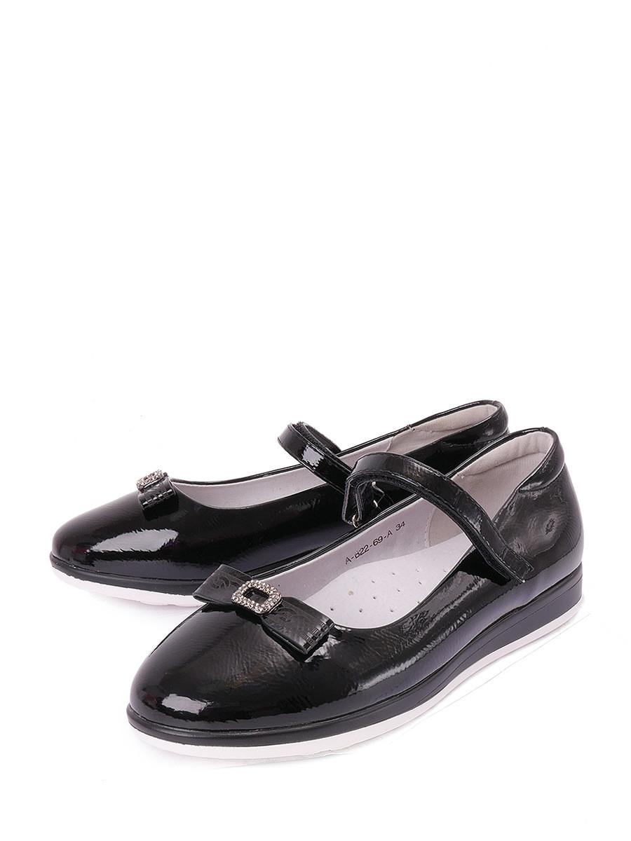 Купить Туфли BI&KI, черный, искусственная кожа, лето