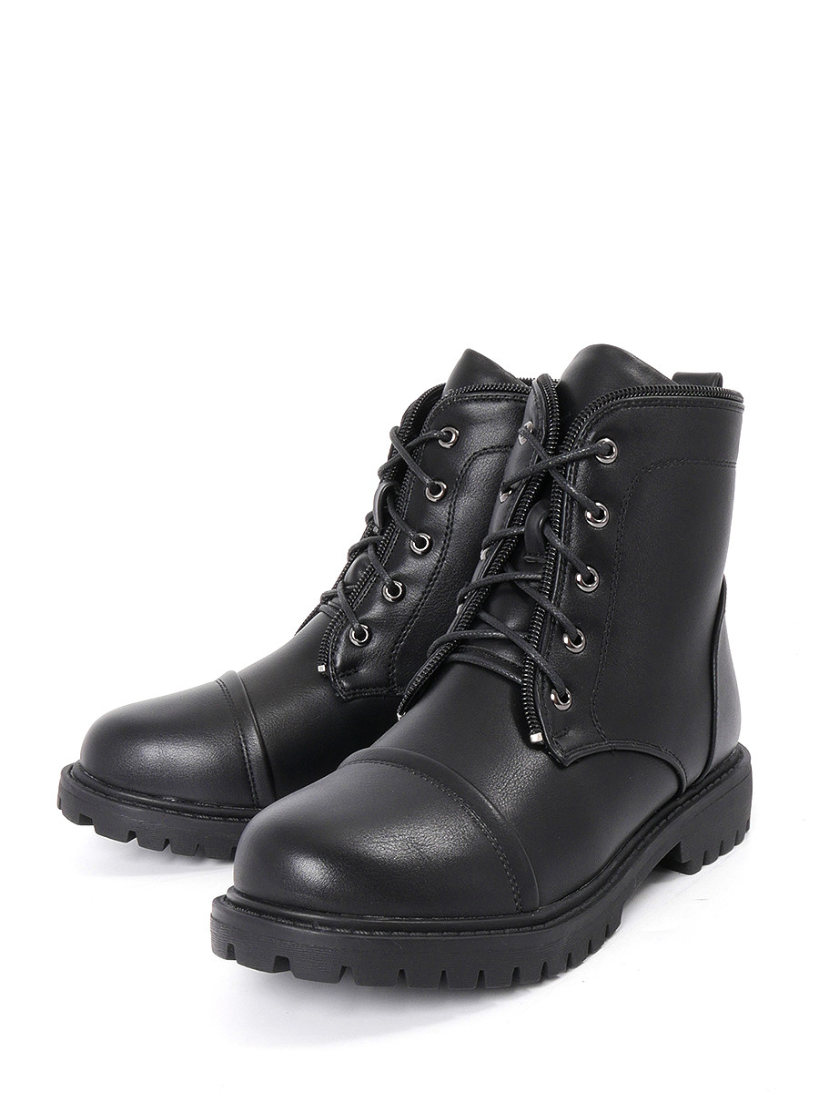 Ботинки BERTEN ботинки из кожи с отворотами из искусственного меха