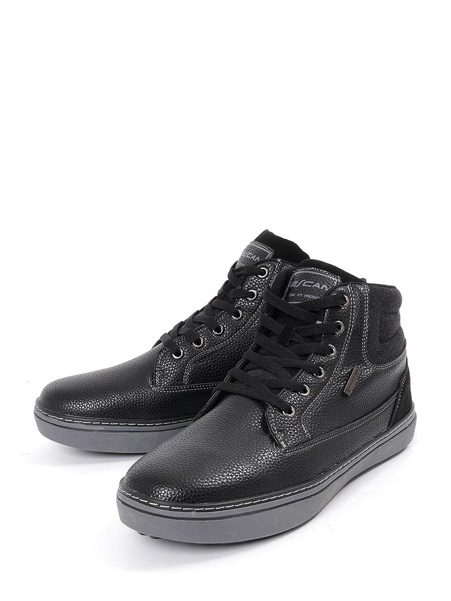 Ботинки ESCAN ботинки из кожи с отворотами из искусственного меха