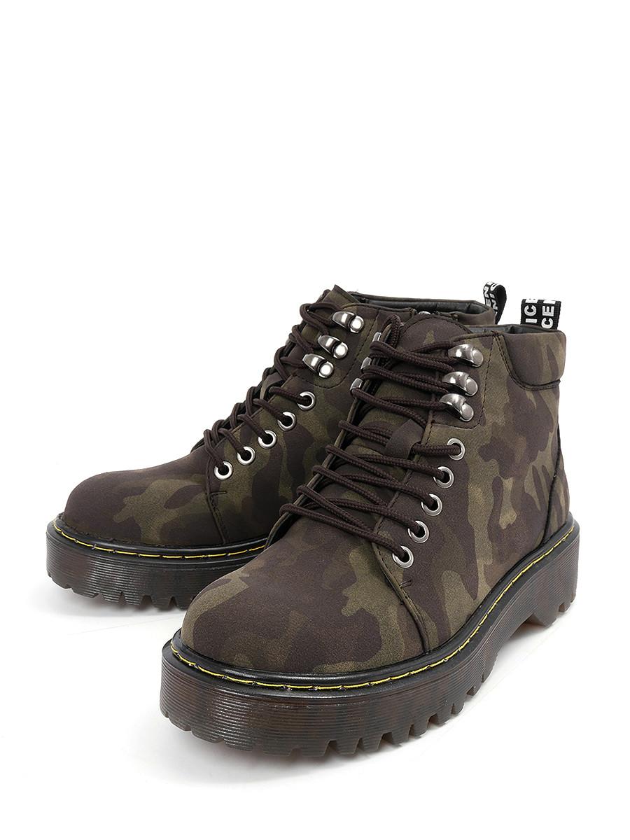 Купить Ботинки LETMI, хаки, искусственная кожа, демисезон