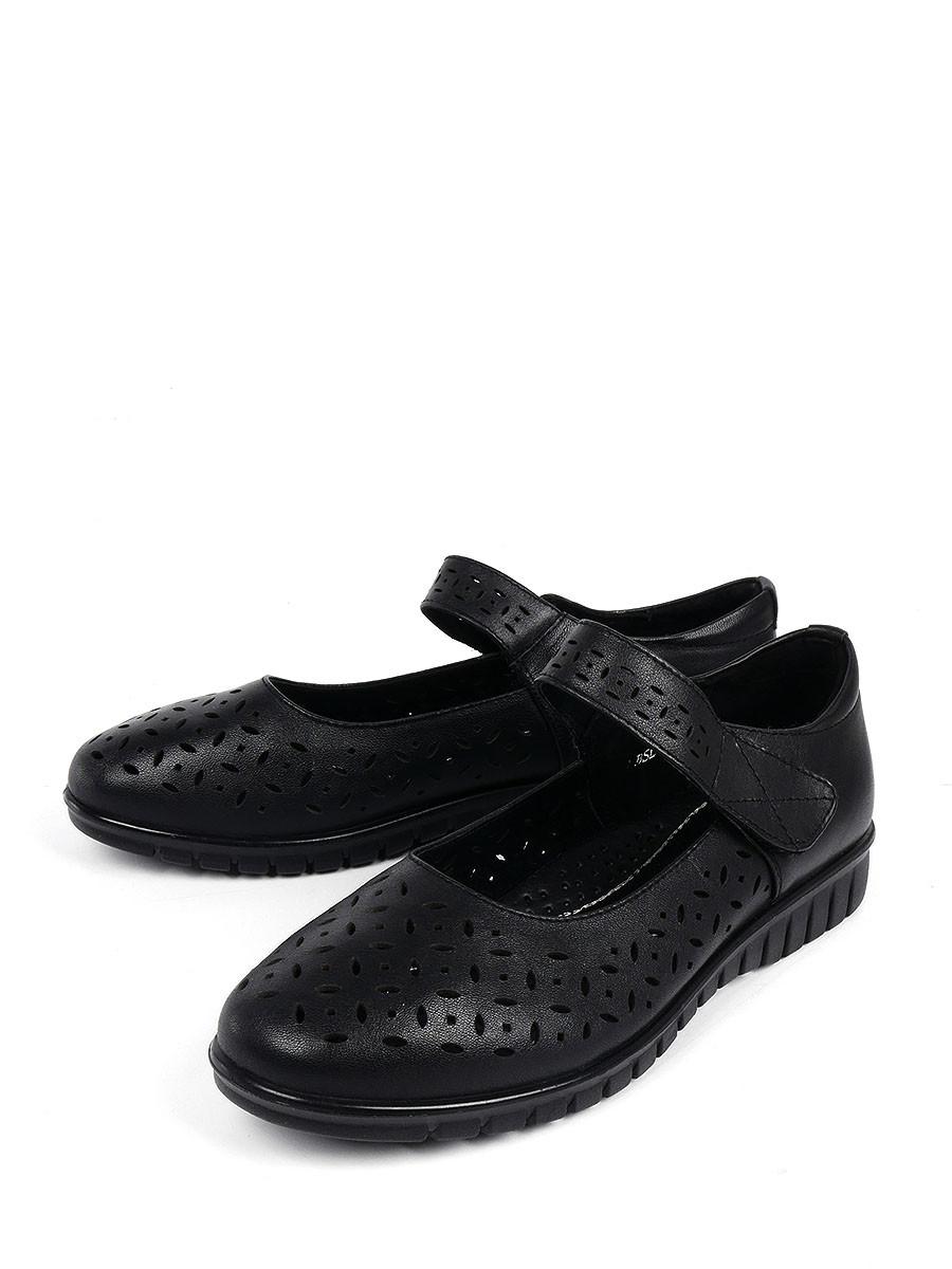 Купить Туфли BERTEN, черный, натуральная кожа, демисезон