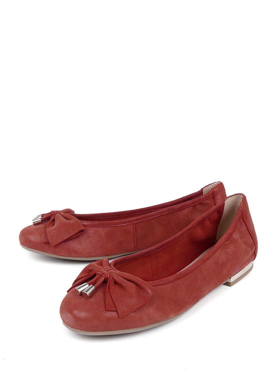 Купить Туфли Caprice, красный, натуральная кожа, лето
