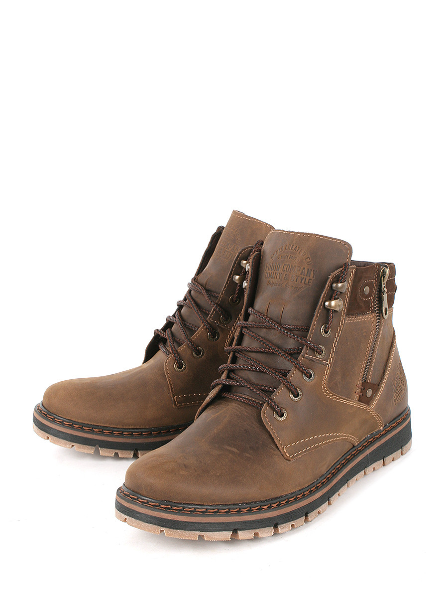 Купить Ботинки Rooman, коричневый, нубук, зима
