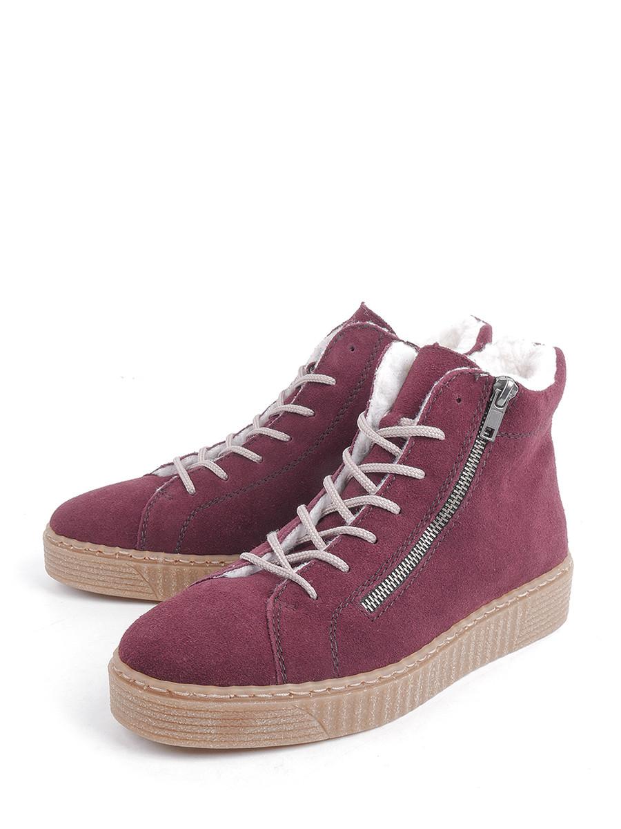 Купить Ботинки Rieker, бордовый, натуральная кожа, зима