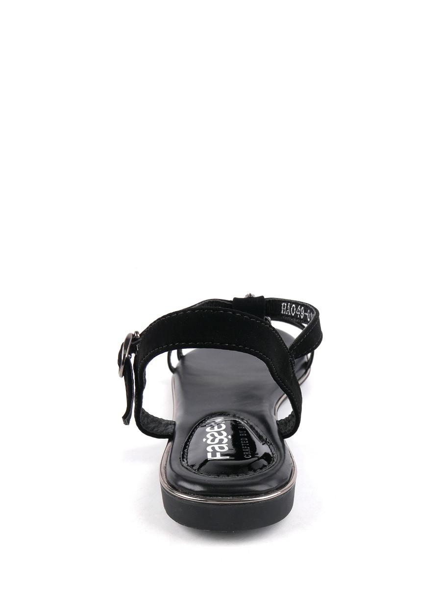 Фото 4 - Женские босоножки Baden черного цвета