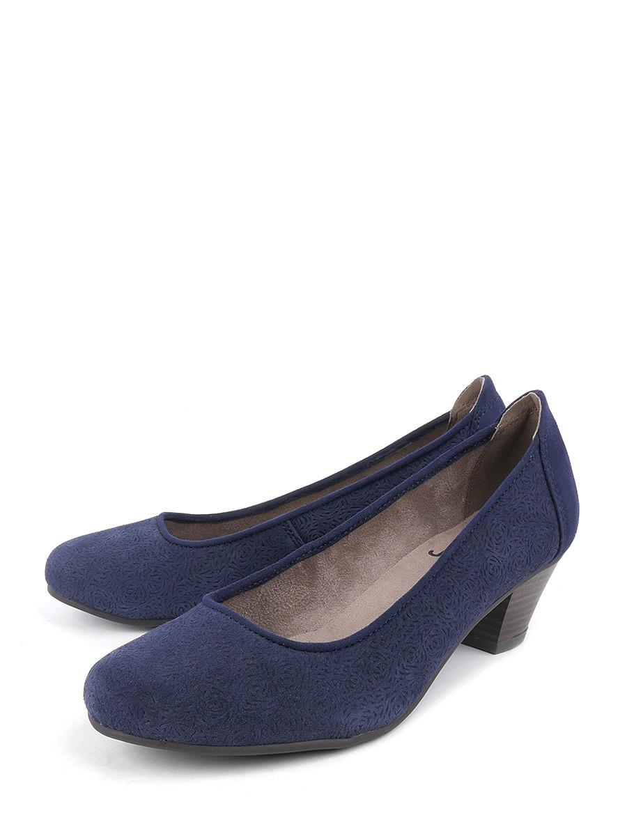 Купить Туфли Jana, синий, натуральная замша, демисезон